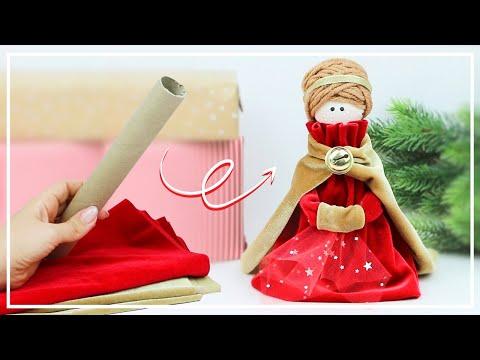 🌟 Как сделать КУКЛУ из ВТУЛКИ — Beautiful Doll from Paper Tube making — DIY NataliDoma Поделки