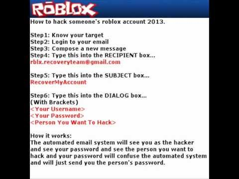 how to hack someone's roblox account