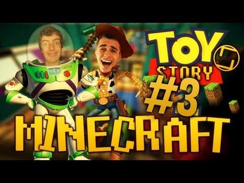 Toy Story sur Minecraft - On est des jouets avec Squeezie ! - Épisode 3