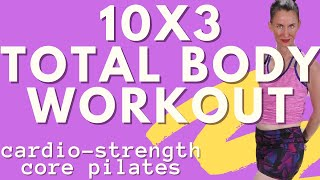 40 MINUTE  WORKOUT |KICKBOXING- TOTAL BODY TONING - CORE -WORKOUT| 10 X 3 TOTAL BODY SHRED | AFT