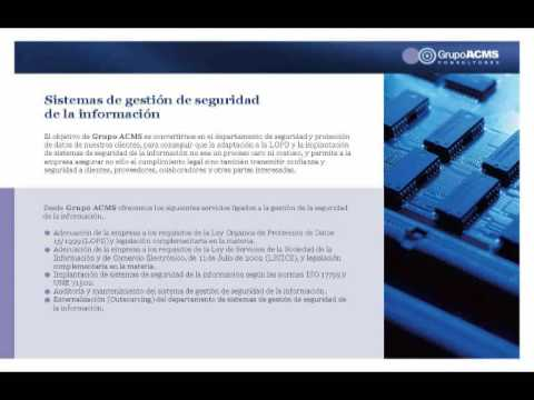 grupo acms consultores_iso 9001 2008_iso 14001_ohsas _ifs_brc _iso15189_iso 13485