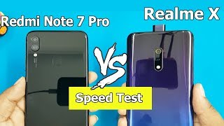 Realme X vs Redmi Note 7 Pro SpeedTest / Comparison    Antutu Scores    Best?..