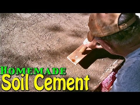 Homemade Soil Cement Simple Amp Cheap Home Application