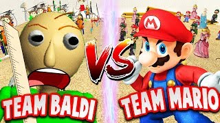 BALDI vs MARIO (Who will win?!) | Baldi's Basics Gmod Gameplay