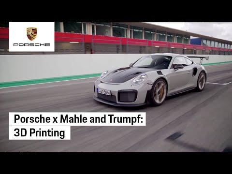 Porsche x Mahle and Trumpf: 3D Printing