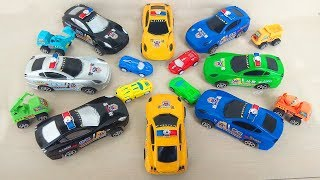 44 Best Toys for Kids Toddlers Children Learn Colors with Sports Racing Car Police Car Construction