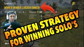 PUBG XBOX ONE X- HOW TO WiN SOLO'S!!!! TiPS AND TRiCKS W/ SPEROS
