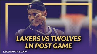 Lakers Nation Discussion: Lakers Beat the T-Wolves, Tyson Chandler's Debut, & Head Band LeBron