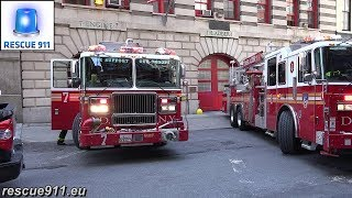 FDNY - Full house response - Engine 7 + Ladder 1 + Battalion 1 - MOVE AWAY!
