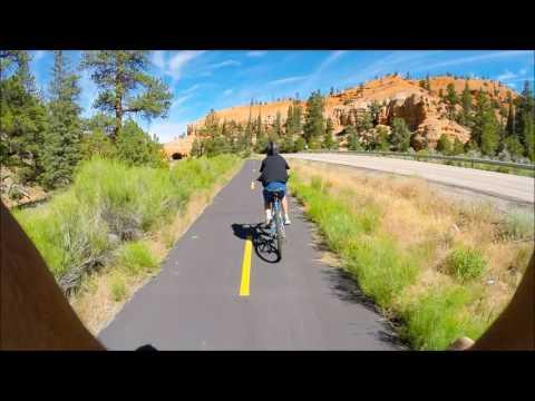 Biking Red Canyon Trail near Bryce Canyon