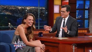 Stephen Busts Out His Energy Dance For Sutton Foster