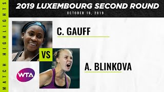 Coco Gauff vs. Anna Blinkova   2019 Luxembourg Open First Round   WTA Highlights