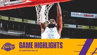 HIGHLIGHTS | LeBron James (17 pts, 11 reb, 6 ast) vs Chicago Bulls