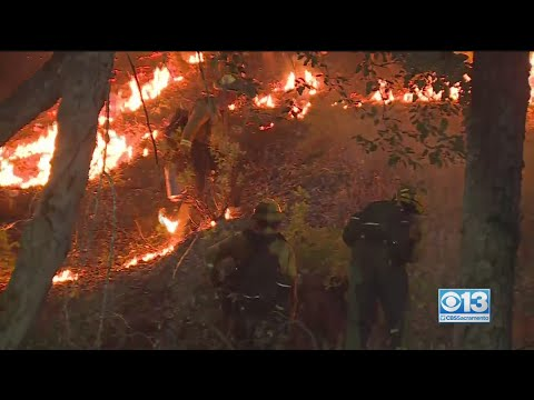 River Fire Rages Near Colfax