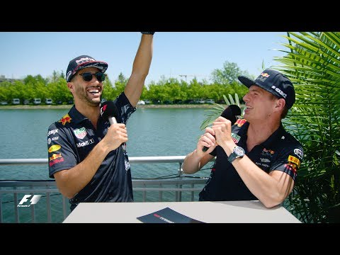 Red Bull's Max Verstappen And Daniel Ricciardo | F1 Grill The Grid 2017
