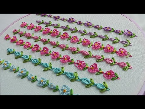 Flower Border Line | Easy Beautiful Stitches | Hand Embroidery