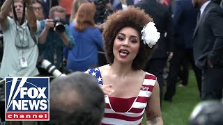 Watch Joy Villa's verbal battle with media at the White House
