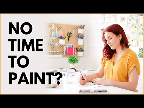 How to Find Time For Painting to Relax & to Avoid Burnout