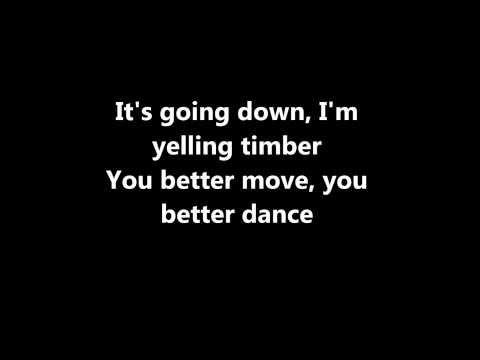 Pitbull- Timber Lyrics