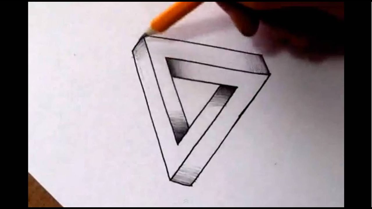 draw cool optical easy drawings illusions paper illusion impossible triangle 3d drawing stuff designs doodles via step hard symbols tessellations