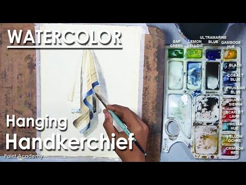 Watercolor Painting : Hanging Handkerchief