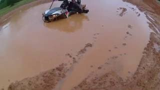 Yamaha Wolverine vs RZR 900 wth big tires drag race