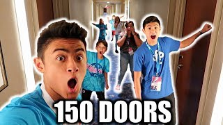 DING DONG DITCH 150 DOORS PRANK AT PLAYLISTLIVE (WITH FANS)
