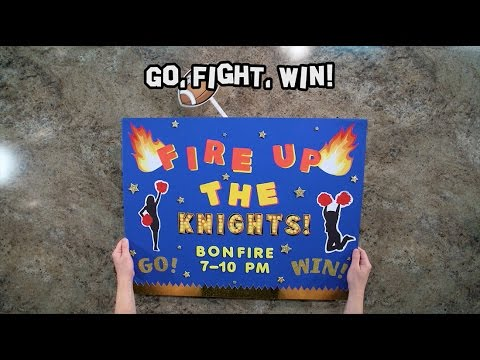 Go, Fight, Win!   Homecoming Poster Idea