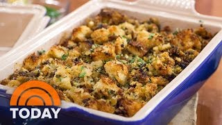 Sausage Stuffing 2 Ways: Classic Thanksgiving Recipes With Brioche Or Cornbread | TODAY