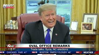 OVAL OFFICE NEWS CONFERENCE: President Trump Talks To Media