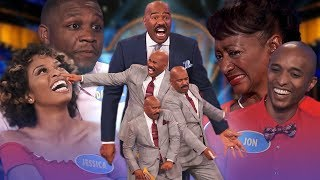 Top 5 moments from January 2019! Steve Harvey is on fire!   Family Feud