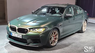 New BMW M5 CS! FIRST LOOK at the Super Saloon