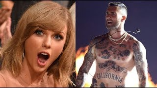 Famous People Reacting to Adam Levine!!!! (Taylor Swit, Beyoncé, Nicki Minaj...)