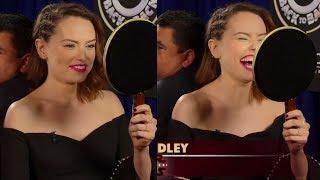 Daisy Ridley on the Jimmy Kimmel show (2017)