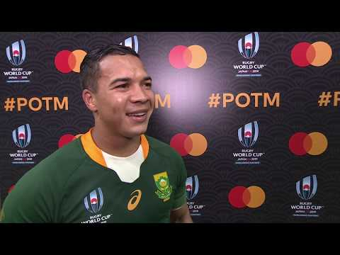 Rugby World Cup | South Africa v Italy | Post-match interview with Cheslin Kolbe