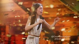 13 Year Old Singing Like a Lion Earns Howie's Golden Buzzer America's Got Talent