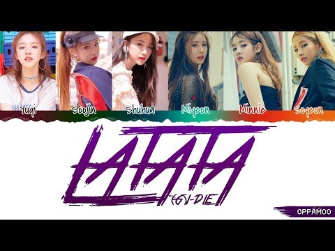 (G)I-DLE ((여자)아이들) - 'LATATA' Lyrics (Color Coded Han-Rom)