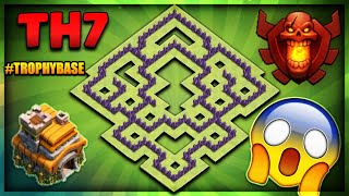 """BRAND NEW 2018 TOWN HALL 7 (TH7) TROPHY/DEFENCE BASE-""""UNSTOPPABLE""""-Clash Of Clans"""