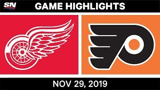 NHL Highlights | Red Wings vs. Flyers – Nov. 29, 2019