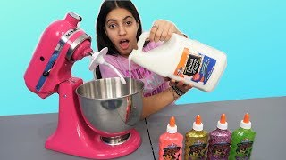 Making Giant Slime in a Mixer!