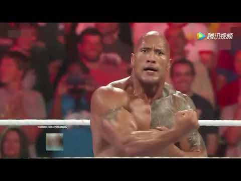 WWE 巨石强森联手塞纳,把大秀哥打惨了