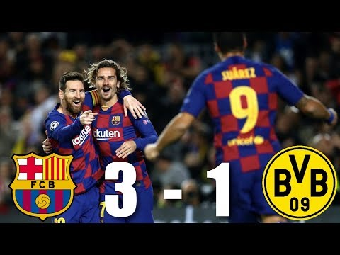 Barcelona vs Borussia Dortmund [3-1], Champions League, Group Stage 2019/20 - MATCH REVIEW