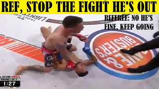 Top 10 Times Fighters Refused to Hit Their Opponent