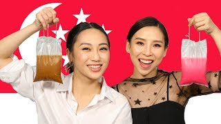 Trying Foods From Singapore!  |  TINA TRIES IT