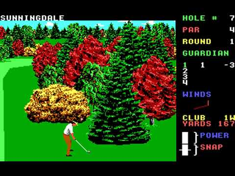 World Class Leader Board (Course F: Sunningdale) (Access) (MS-DOS) [1989] [PC Longplay]