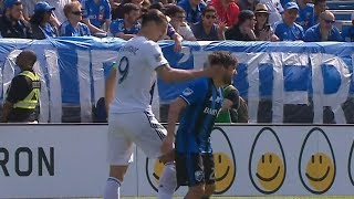 RED CARD: Zlatan Ibrahimovic slaps opponent in the head