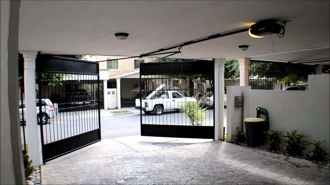 Puertas automaticas porton abatible con operador merik - Puertas automaticas para cocheras ...