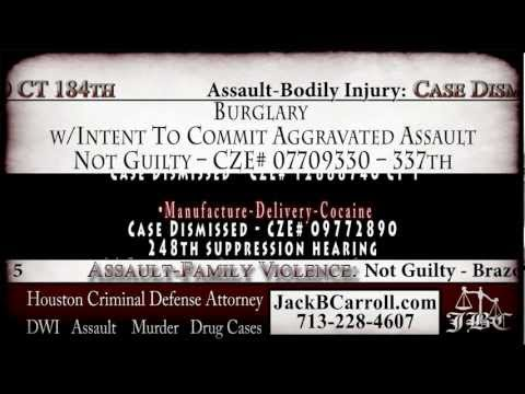 Houston criminal attorney Jack B. Carroll's trial results for legal matters relating to criminal defense.
