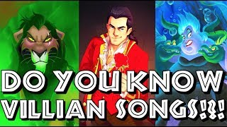 I BET YOU DON'T KNOW THE DISNEY VILLAIN SONGS - CAN YOU GUESS THEM!?!