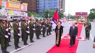 Chủ tịch Quốc hội Nguyễn Thị Kim Ngân bắt đầu thăm hữu nghị chính thức Campuchia